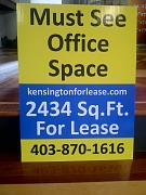Coroplast for lease sign