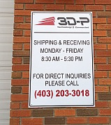 Calgary Shipping and Receiving sign