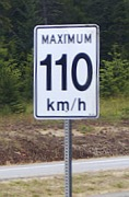 Traffic speed sign in Calgary