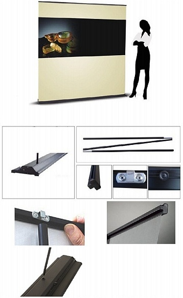 Super wide rollup retractable stand