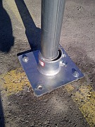 Break away sign post collar