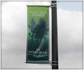 Calgary Streetlight Mounted Banner