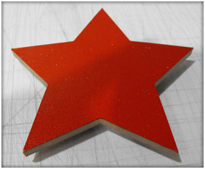 CnC Routered Wooden Star