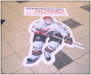 Calgary Floor Vinyl Decal